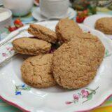 imagen de galleta anzac saludable de coco y avena