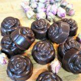 Imagen de bombones veganos de chocolate