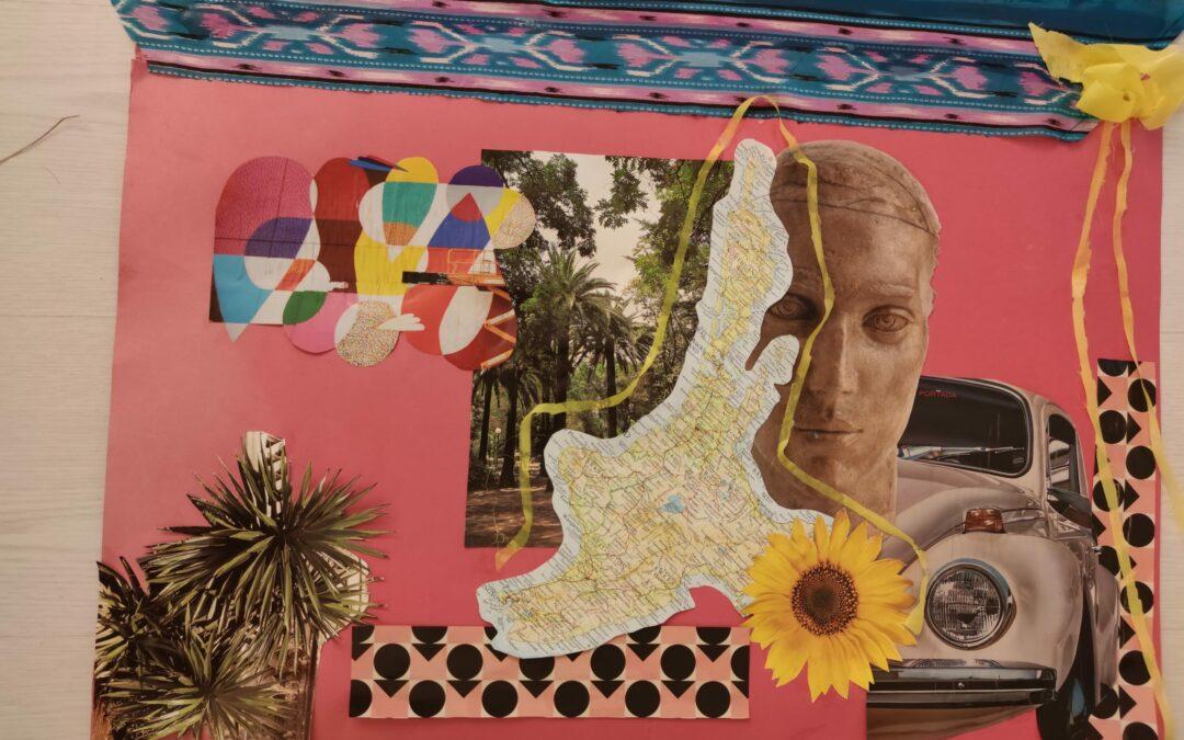 imagen de collage arte y musicoterapia